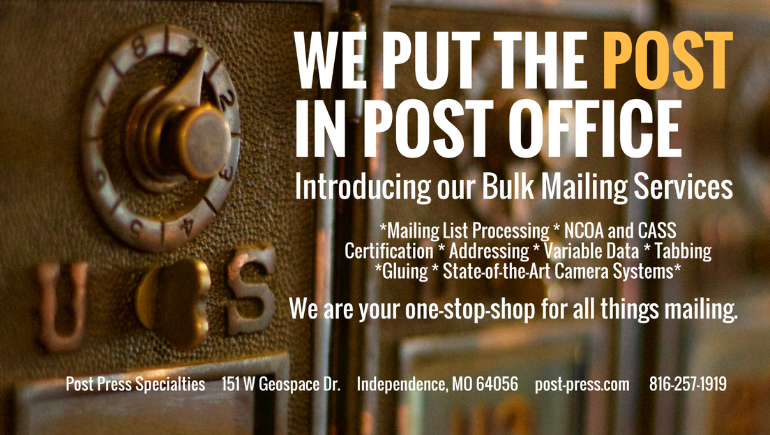 Post Press Specialties | Bulk Mailing Services | Independence, MO